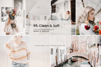 Clean White Lightroom Presets - 95.Soft and 01 -