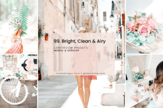 Lifestyle Lightroom Presets - 99.Bright Clean Airy 01 -