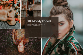 White Lightroom Presets - 101.Moody Faded 01 -
