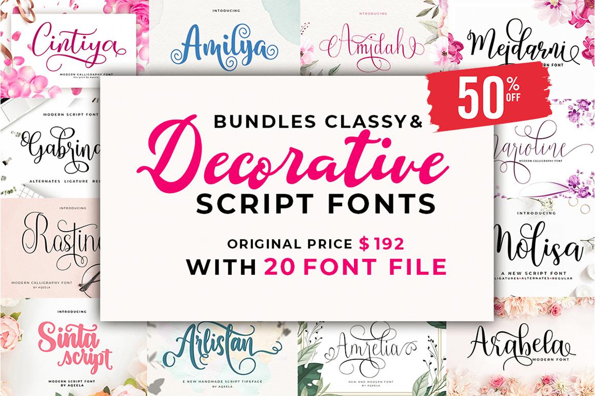 Bundles Classy & Decorative Script Fonts - 0 5 -