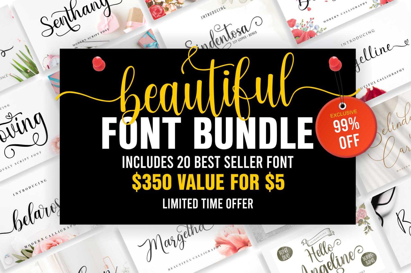 Beautiful Script Font Bundle - Cover 11 -