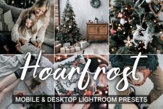 Green Lightroom Presets - HoarFrost presets cover product mobile desktop -
