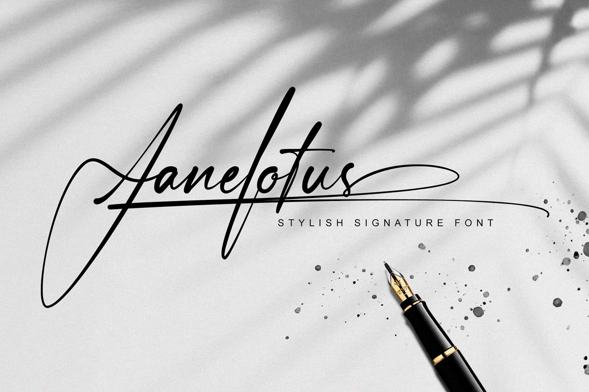 Janelotus - Signature Font - 1 143 -