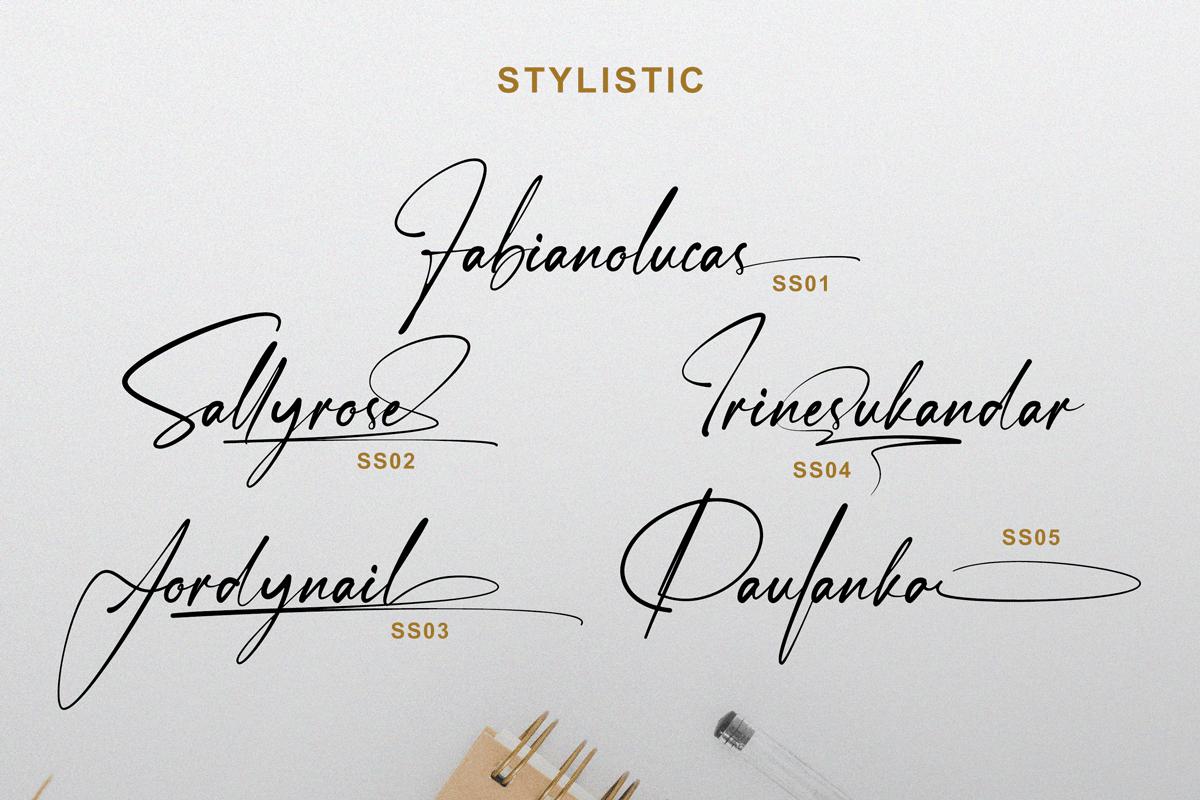 Janelotus - Signature Font - 4 167 -