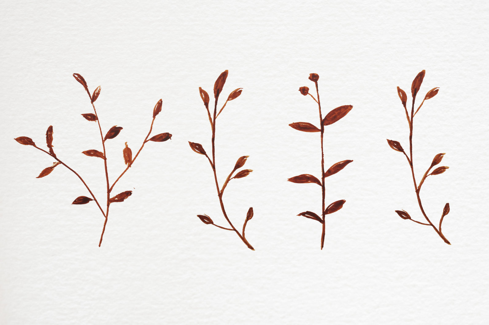 Abstract shape watercolor brown leaves autumn - 02 2 scaled -