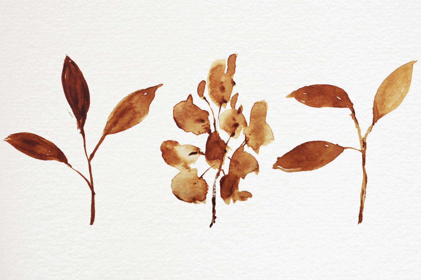 Abstract shape watercolor brown leaves autumn - 05 10 scaled -