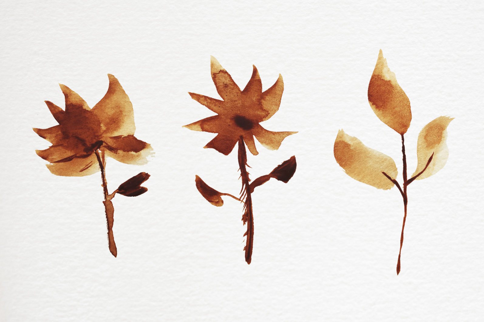Abstract shape watercolor brown leaves autumn - 08 11 scaled -