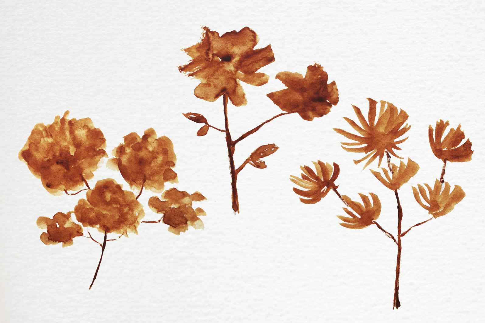 Abstract shape watercolor brown leaves autumn - 09 11 scaled -