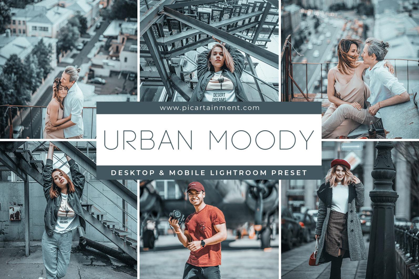 Urban Moody x5 Lightroom Presets - Cover -