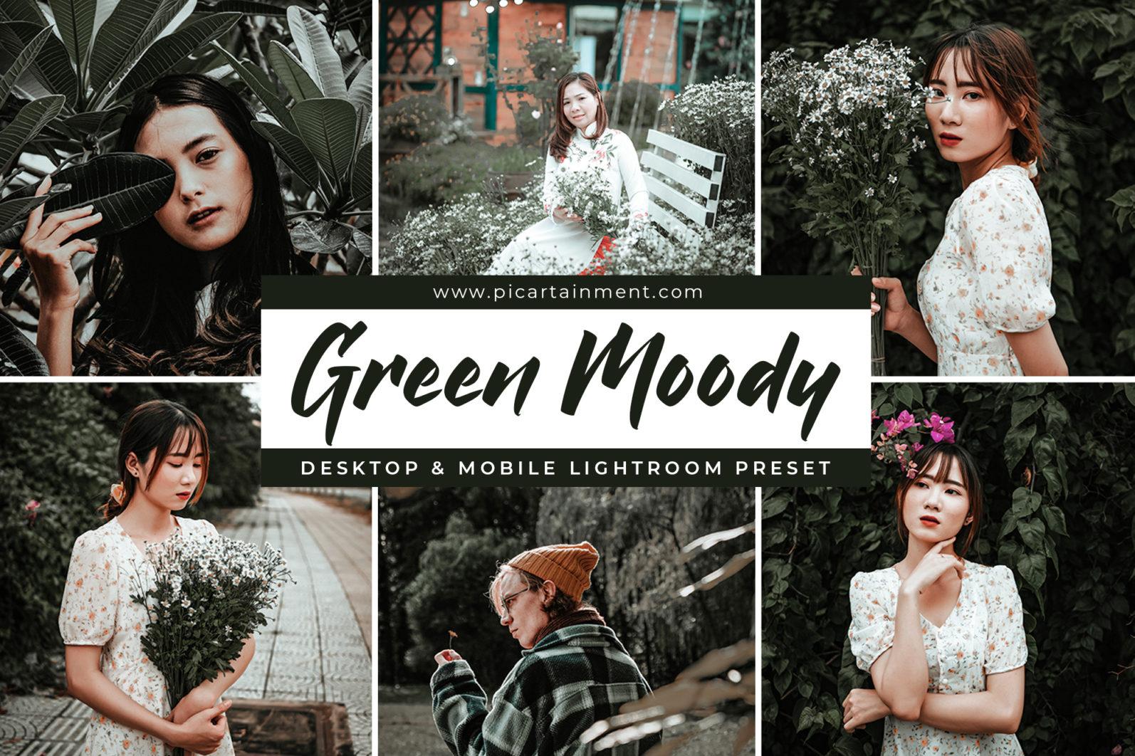 Green Moody x6 Lightroom Presets - Cover 0golzi -