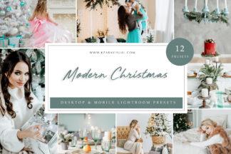 Mobile Lightroom Presets - Modern Christmas LR -