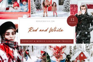 Mobile Lightroom Presets - Red and White LR -