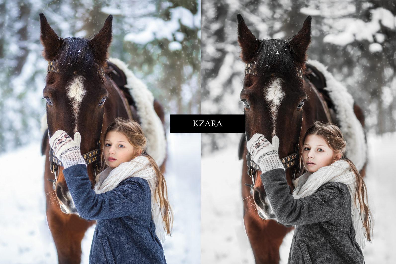 12 x Lightroom Presets, Winter Magic Presets, Outdoor Presets, Gray Tones Presets, Portrait Presets - Winter Magic Preview 4 -