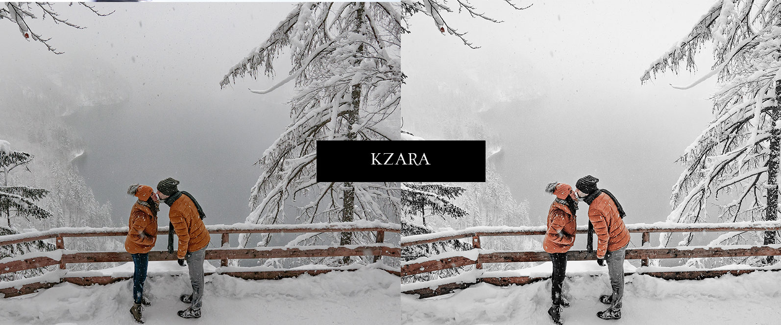 12 x Lightroom Presets, Winter Magic Presets, Outdoor Presets, Gray Tones Presets, Portrait Presets - Winter Magic Preview 12 -