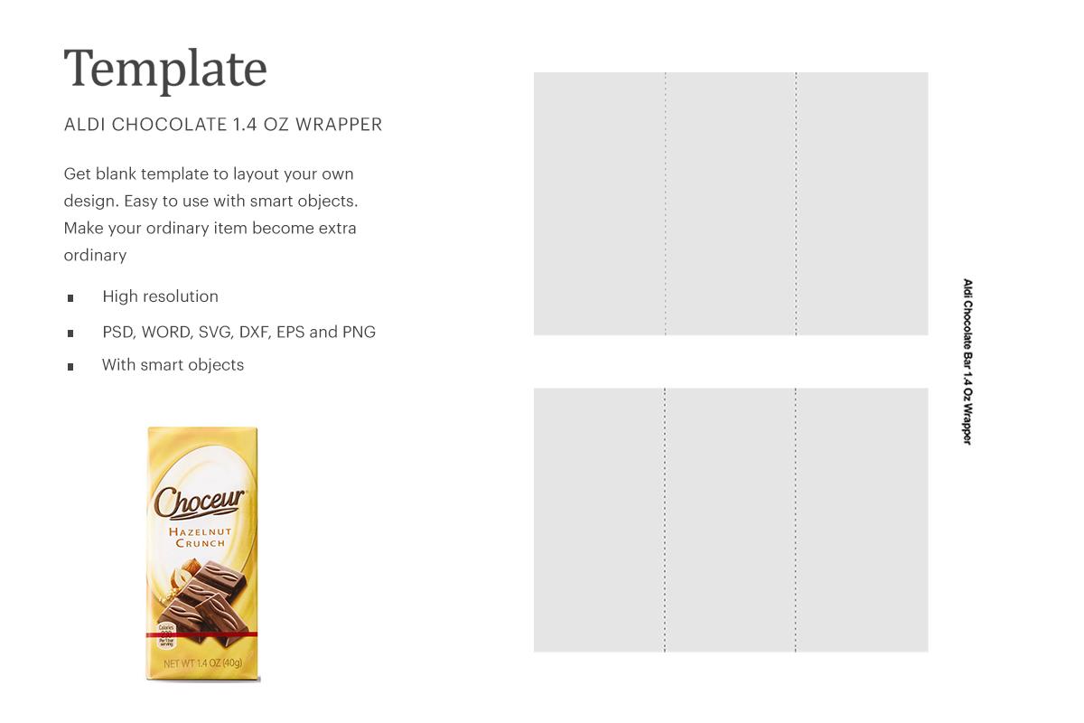 Choceur Chocolate Blank Wrapper, Aldi Chocolate Wrapper  Silhouette Studio   Cricut Silhouette For Candy Bar Wrapper Template Microsoft Word