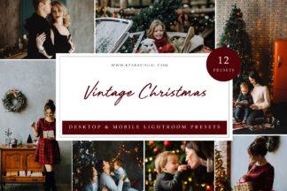 Mobile Lightroom Presets - Vintage Christmas LR -