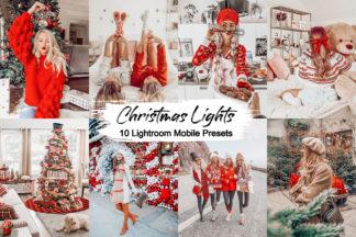 Spring Lightroom Presets - christmas lights -