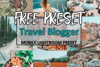 Free Lightroom Presets - Travel Blogger -