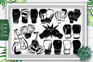 """<span style=""""display: none"""">Craft Bundles</span> - Boxing Gloves Silhouette -"""