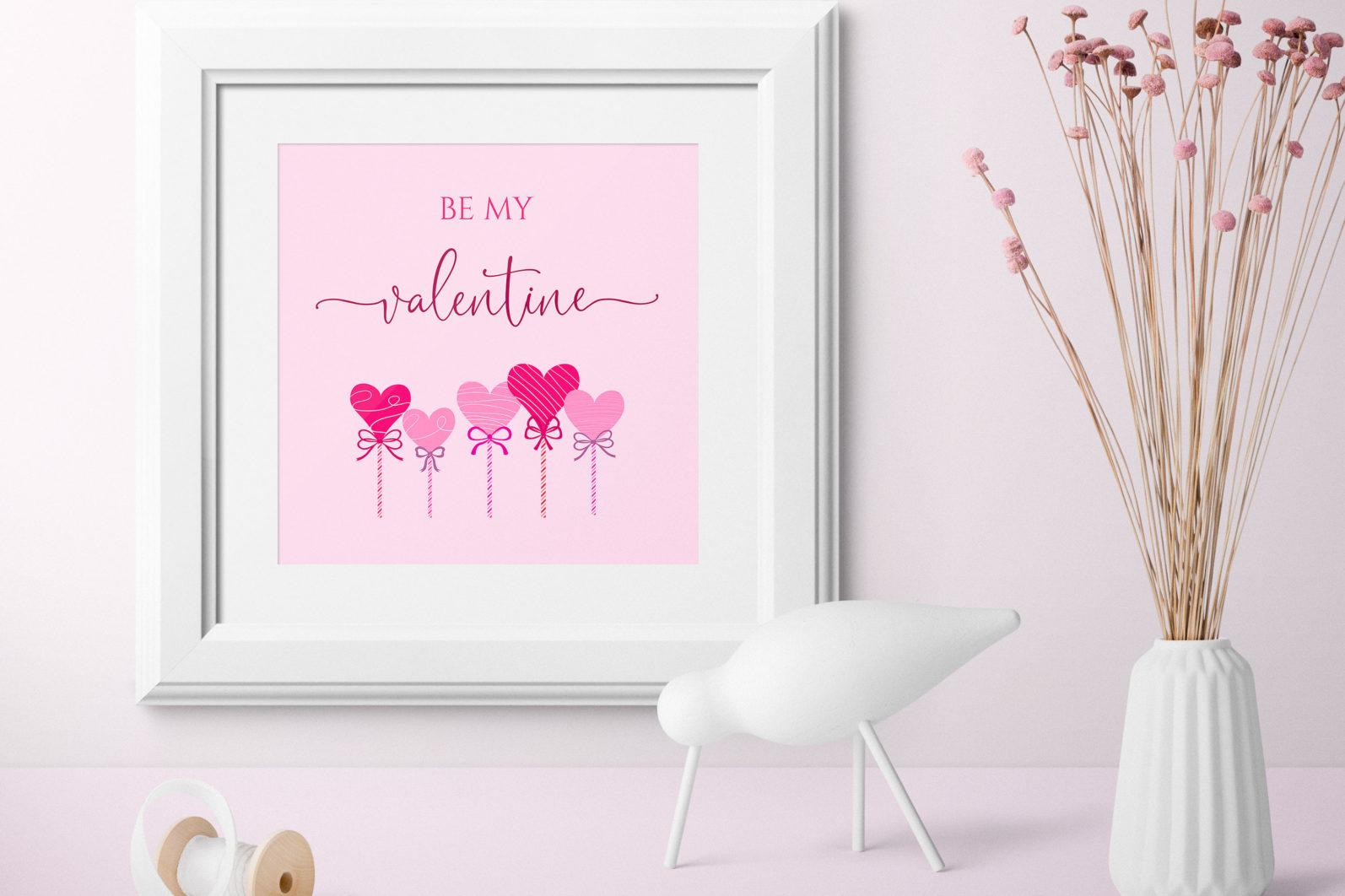 """Be Me Valentine"" Printable - be my valentine 1 scaled -"