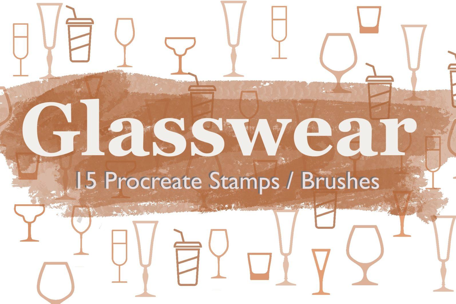Glasswear Procreate brushes/ Procreate Stamps / 15 Glasswear Stamps - Instant Download / - 2934108E 2762 491E 9177 4D72E0B1E7A1 -