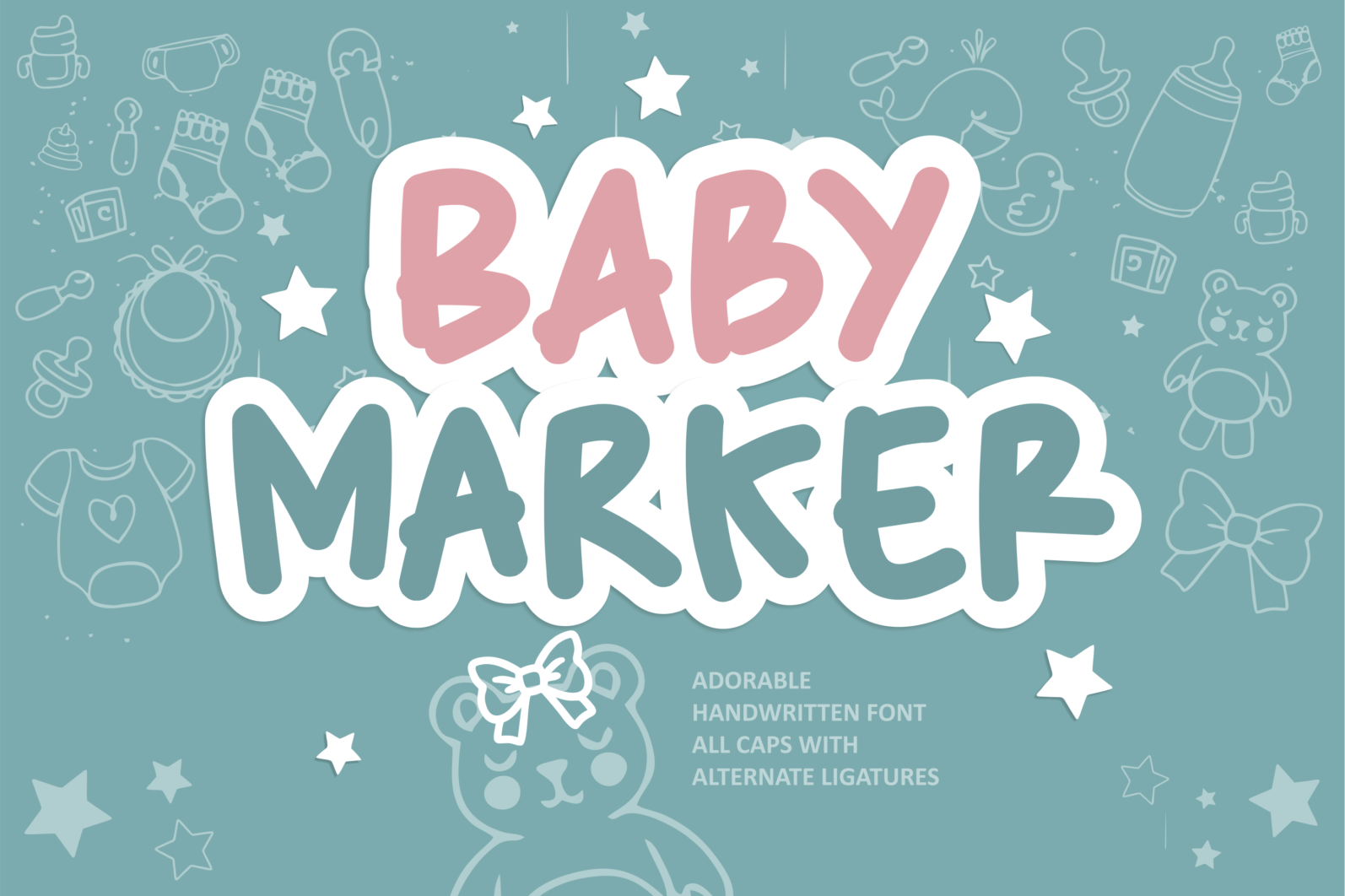 Creative Font Bundle - Preview 1 Baby Marker -