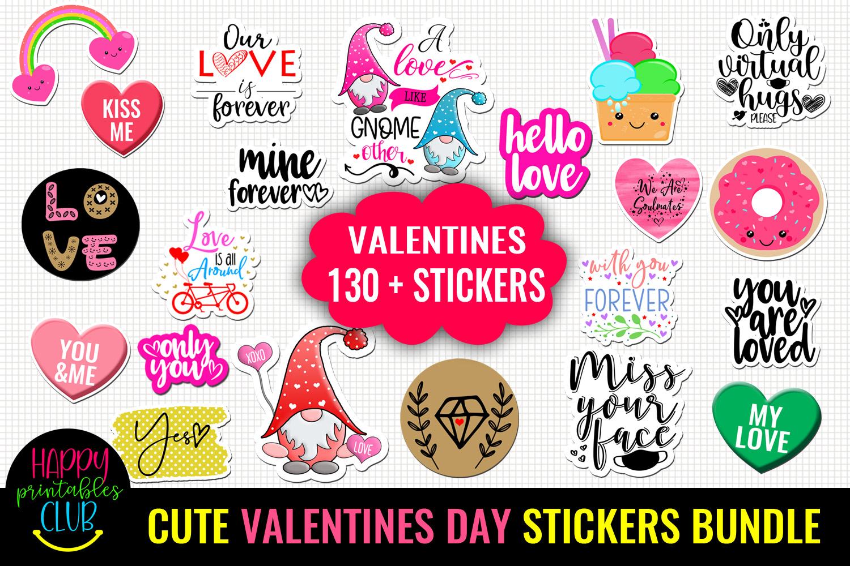 Cute Valentines Day Stickers Bundle -Love Romantic Stickers Bundle - valentine STICKER cover -