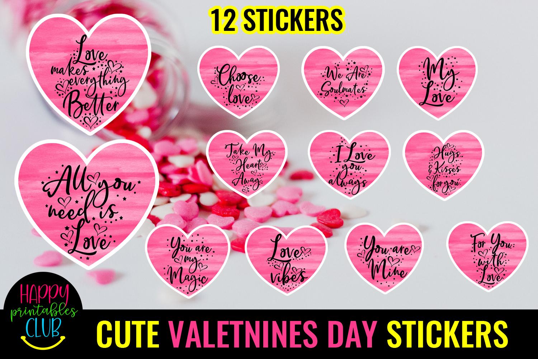 Cute Valentines Day Stickers Bundle -Love Romantic Stickers Bundle - CUTE VALENTINE DAY STICKERS15 -