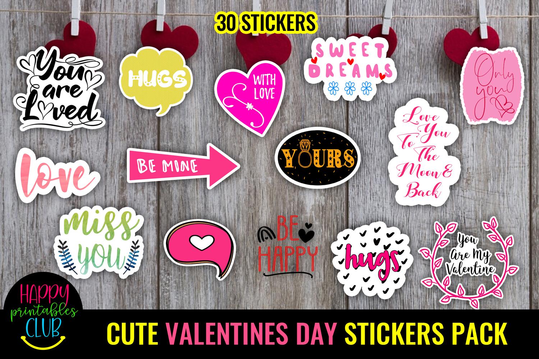 Cute Valentines Day Stickers Bundle -Love Romantic Stickers Bundle - valentine STICKERS cover -