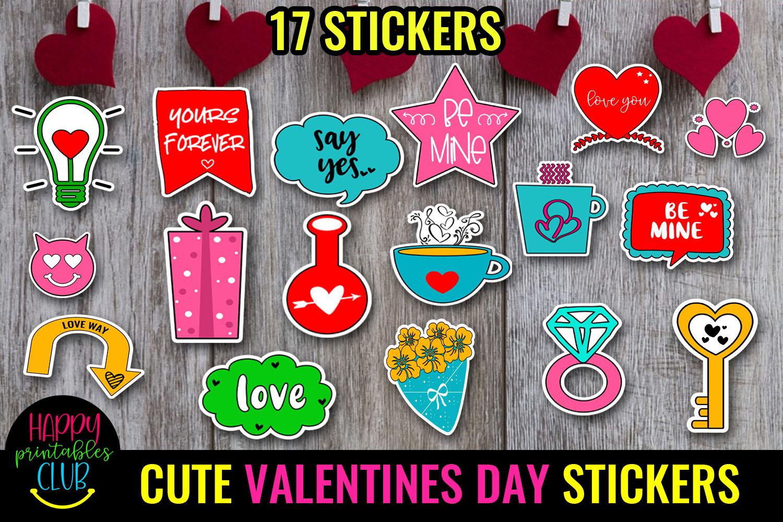 Cute Valentines Day Stickers Bundle -Love Romantic Stickers Bundle - VALENTINES DAY STICKERS 4 -