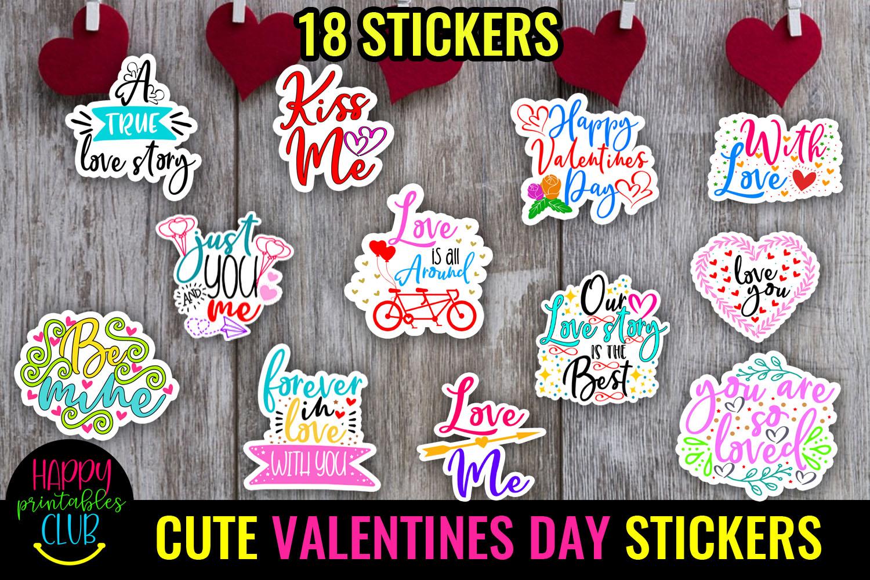 Cute Valentines Day Stickers Bundle -Love Romantic Stickers Bundle - VALENTINES DAY STICKERS -