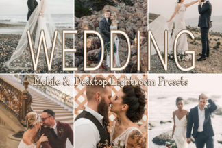 Black And White Lightroom Presets - WEDDING -