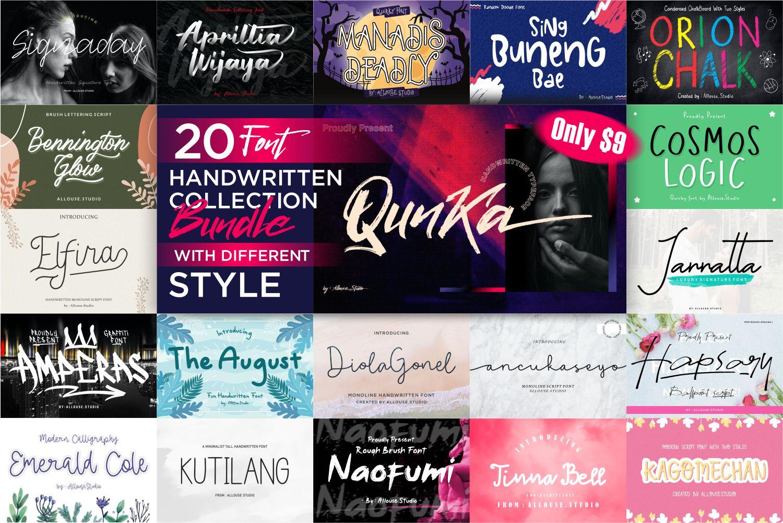 Handcraft Fonts Bundle - INTRO -