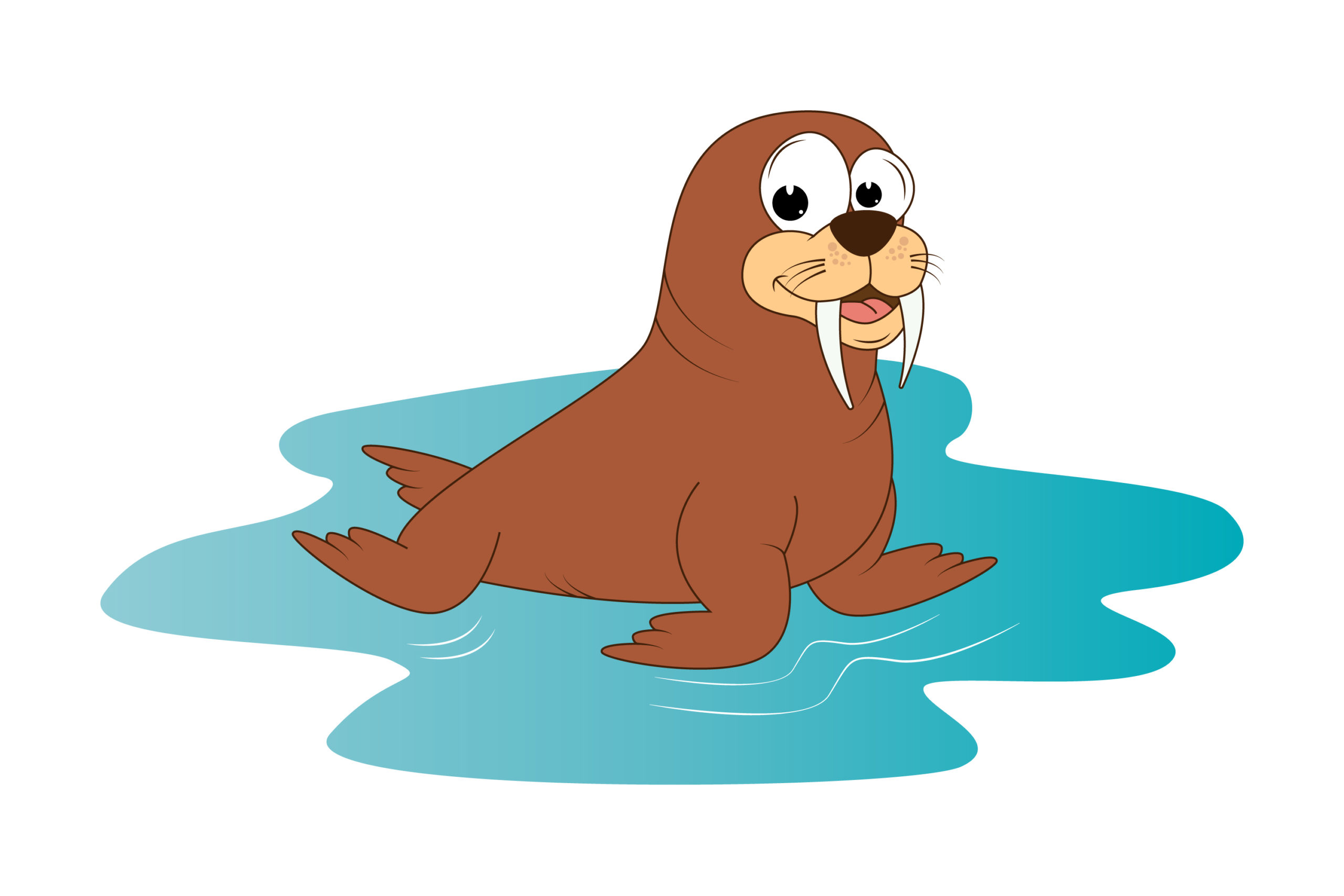 cute walrus animal cartoon – Crella