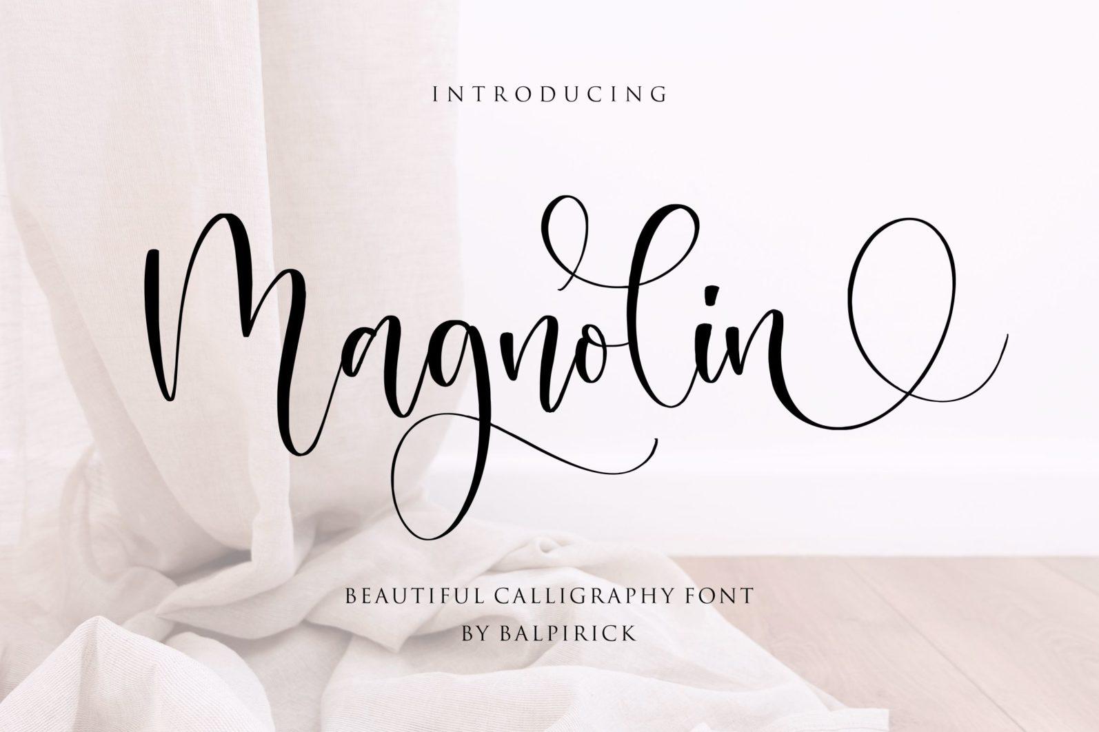 Magnolin Beautiful Calligraphy Font - 1 94 -