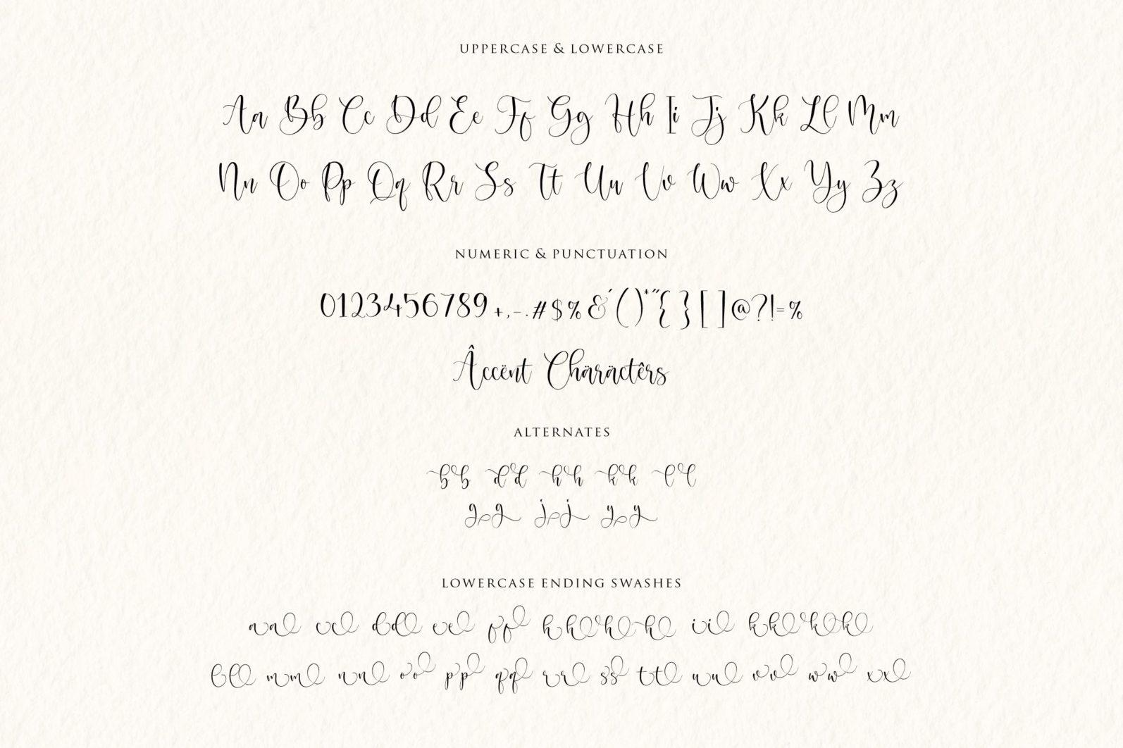 Magnolin Beautiful Calligraphy Font - 6 88 -