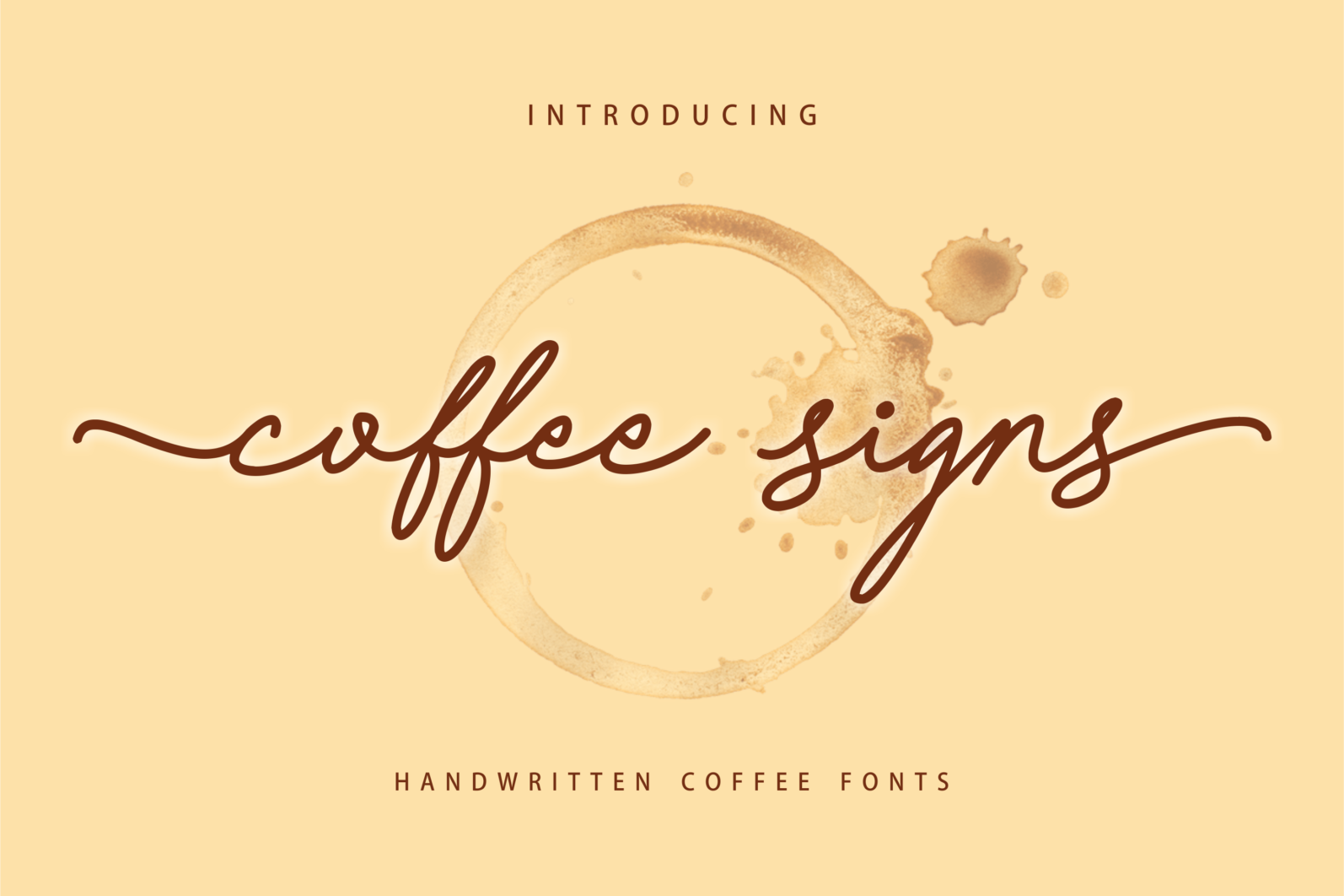 Creative Font Bundle - Preview Coffee Signs 1 -
