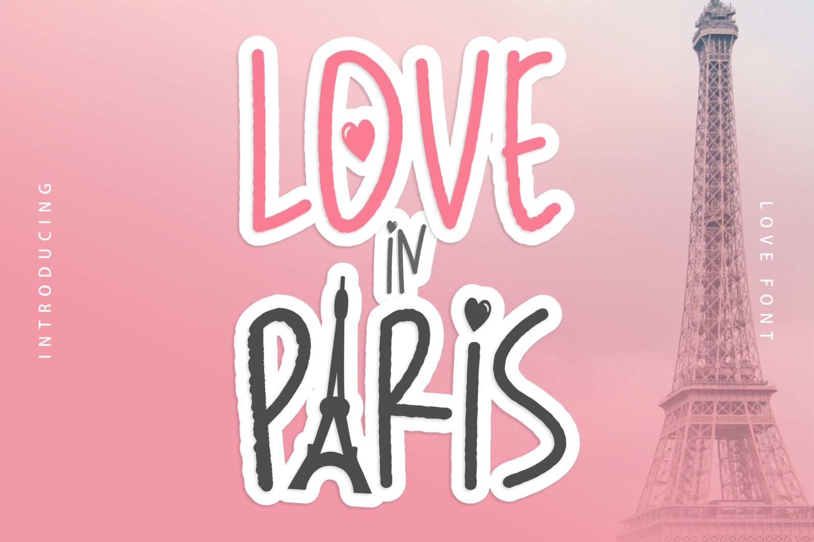 Creative Font Bundle - Preview Love in Paris 1 -