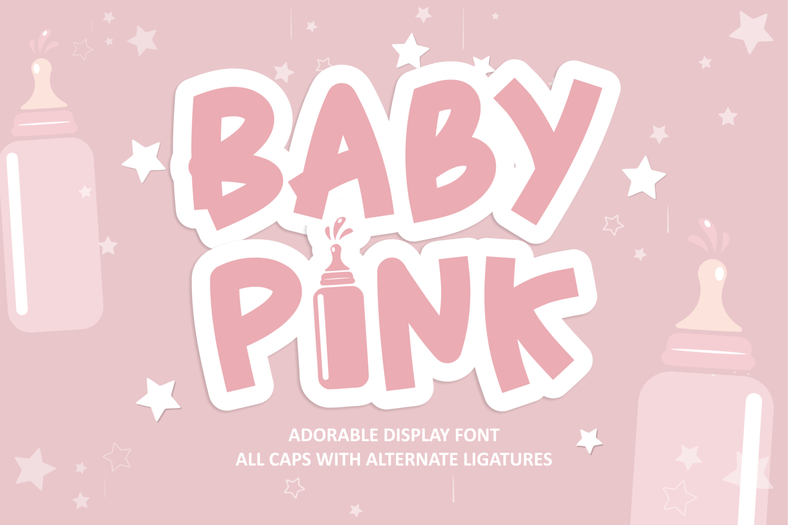 Creative Font Bundle - Preview 1 Baby Pink -