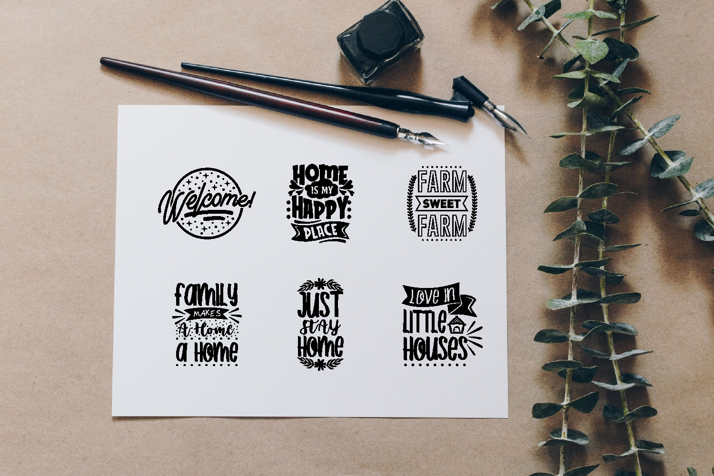 Home Quotes SVG Bundle, Craft Designs Collection Cut File - 17 3 -
