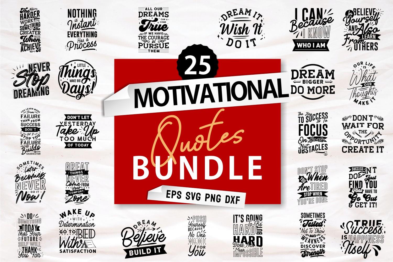 Motivational Quotes SVG Bundle, Craft Designs Collection Cut File - Motivational -