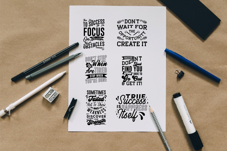 Motivational Quotes SVG Bundle, Craft Designs Collection Cut File - 6 163 -