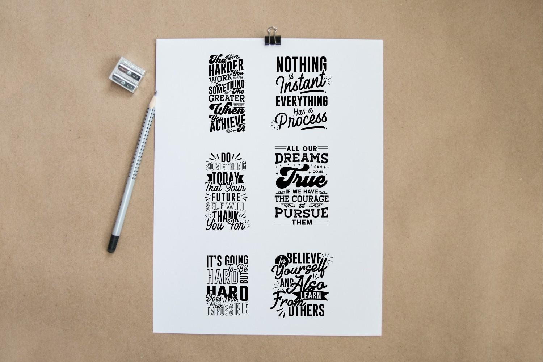 Motivational Quotes SVG Bundle, Craft Designs Collection Cut File - 8 115 -
