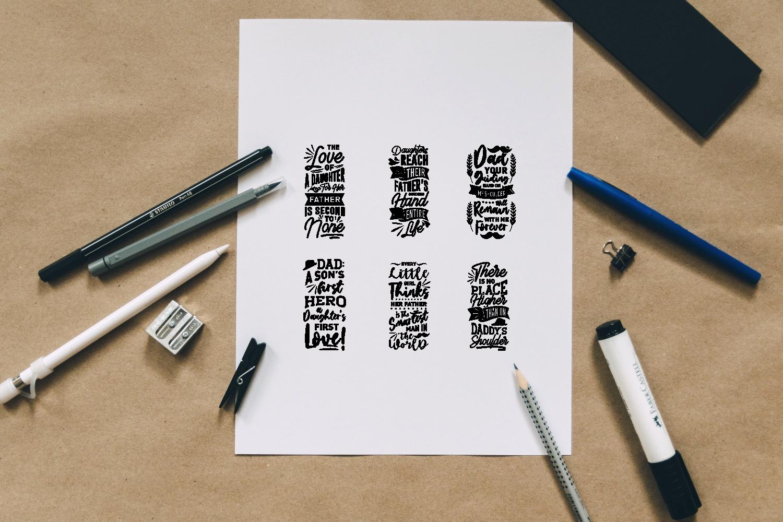 Dad Quotes SVG Bundle, Craft Designs Collection Cut File - 12 42 -