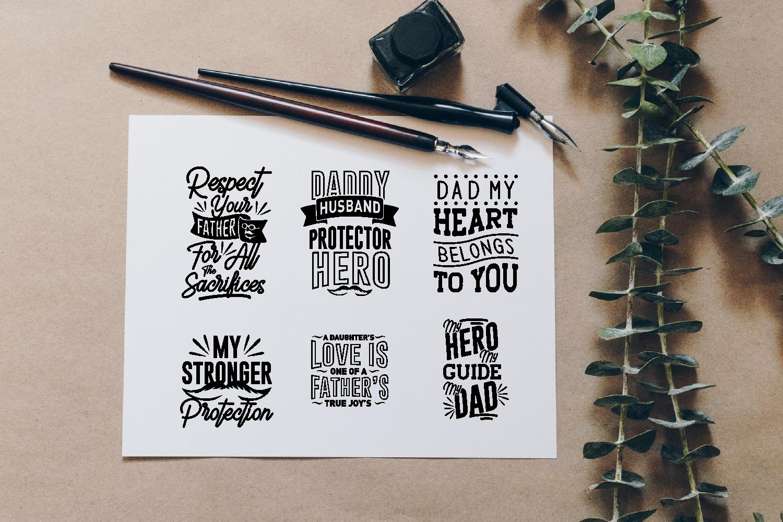 Dad Quotes SVG Bundle, Craft Designs Collection Cut File - 14 27 -