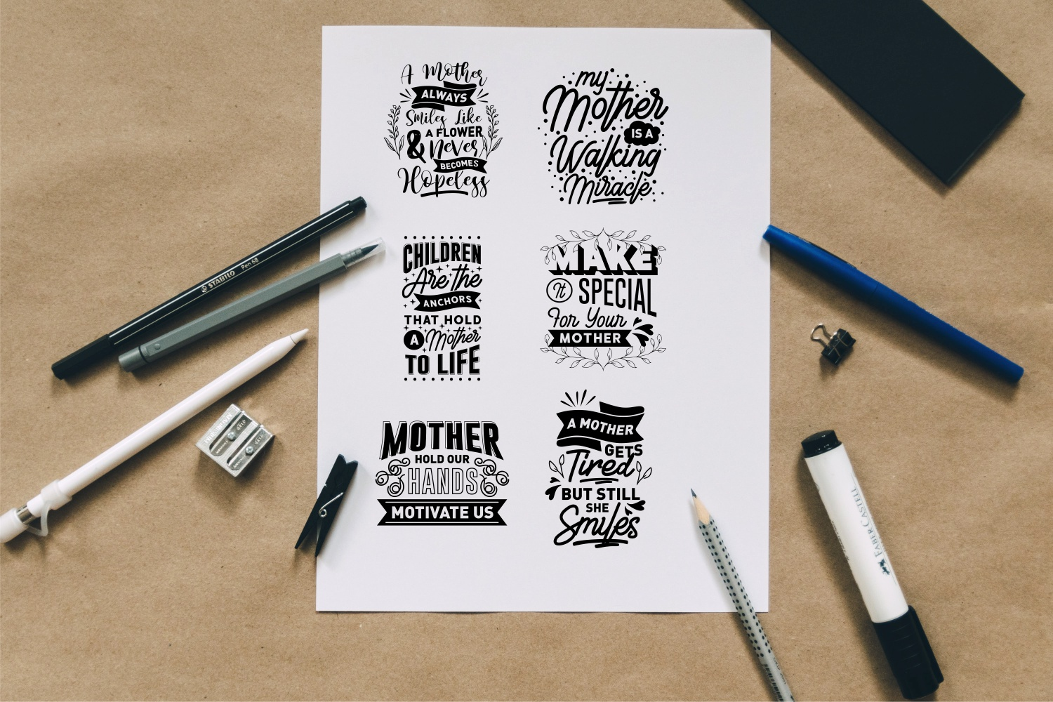 Mom Quotes SVG Bundle, Craft Designs Collection Cut File - 1 178 -