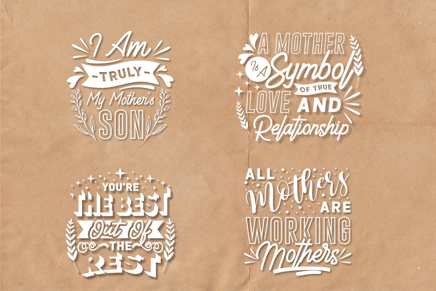 Mom Quotes SVG Bundle, Craft Designs Collection Cut File - 8 117 -