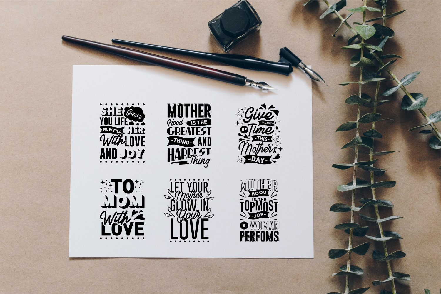 Mom Quotes SVG Bundle, Craft Designs Collection Cut File - 10 146 -