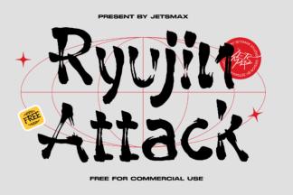 All Freebies - RYUJIN ATTACK FREE FONT FONT 1%402x -