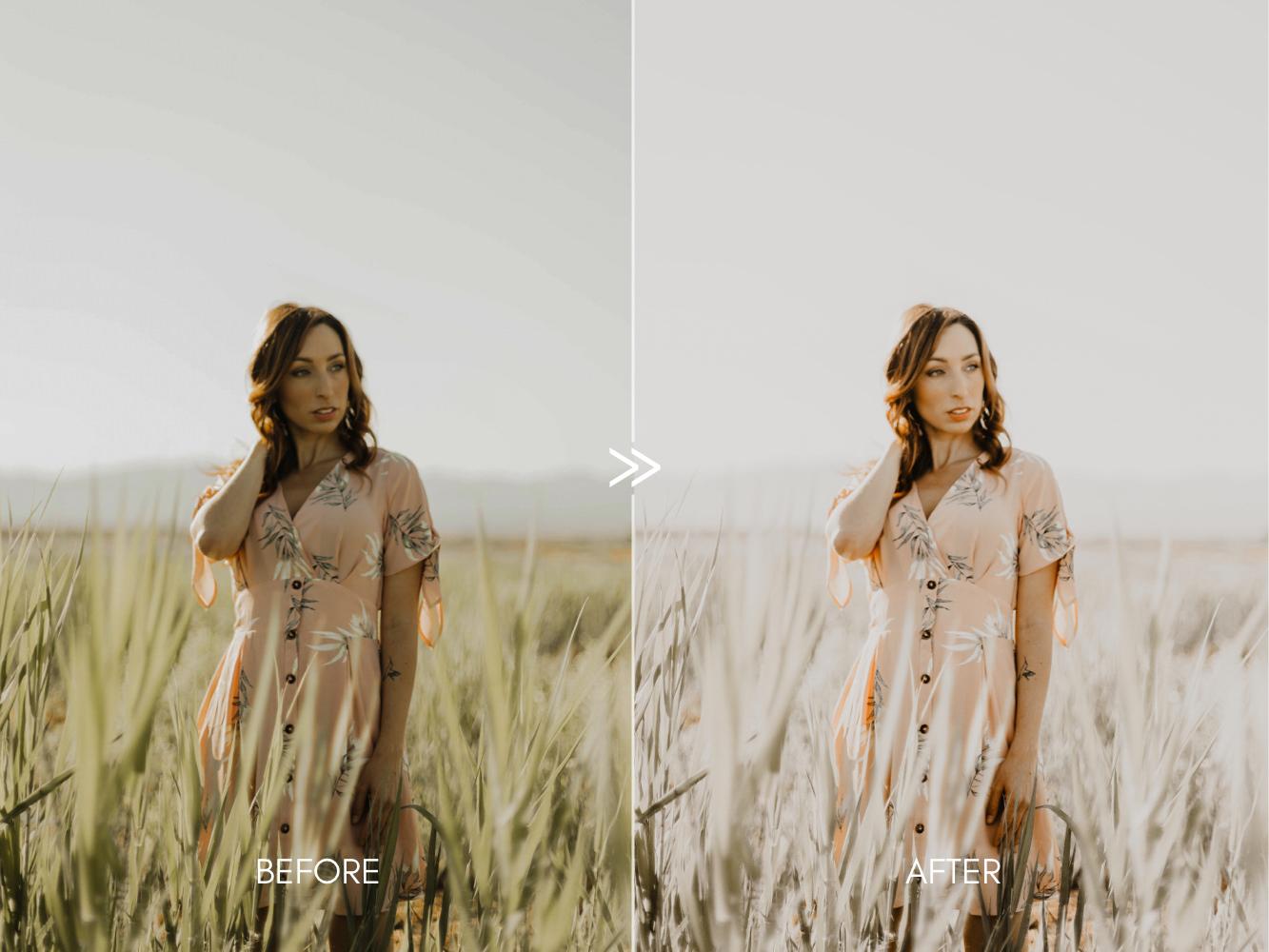 THE LIGHT & AIRY BUNDLE - Natural Clean Bright Lightroom Presets for Desktop + Mobile - creamy portraits presets 3 -
